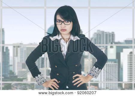 Bossy Female Entrepreneur In Office