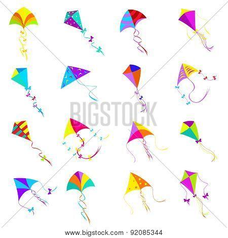 Kite icons set
