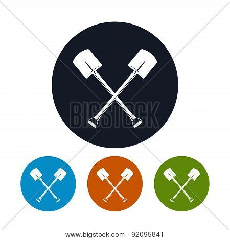 Icon of a Crossed Shovels