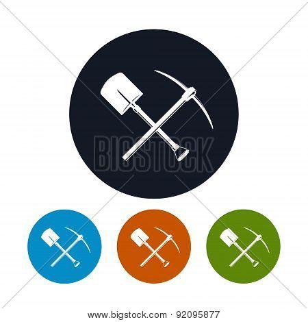 Icon Shovel and Pickaxe