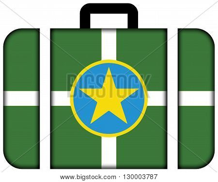 Flag Of Jackson, Mississippi. Suitcase Icon, Travel And Transportation Concept