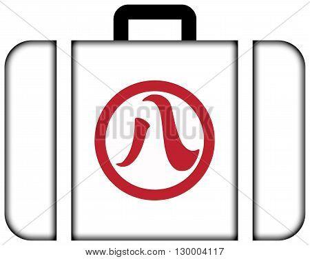 Flag Of Nagoya, Japan. Suitcase Icon, Travel And Transportation Concept