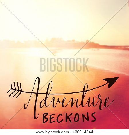 Inspirational Typographic Quote - Adventure beckons