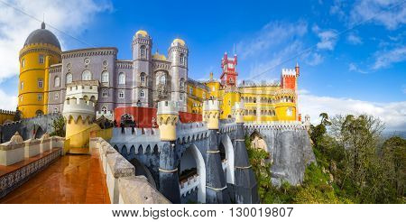 View of Palace da Pena - Sintra, Lisboa, Portugal - European travel