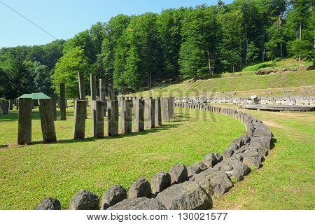 Sarmizegetusa Regia the dacian Stonehenge, Romania