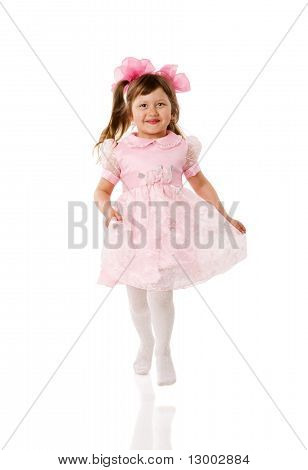 Jumping Excited Girl