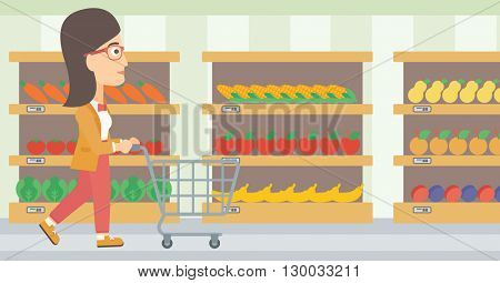 Customer with trolley.