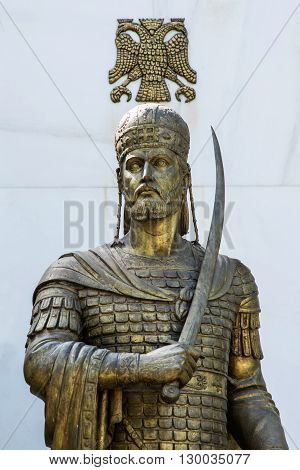 statue of Constantine XI Palaiologos in Athens