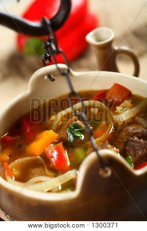 Beef Stew In The Pot