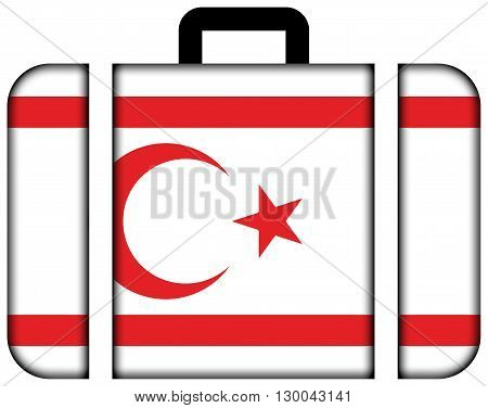 Flag Of Northern Cyprus. Suitcase Icon, Travel And Transportation Concept