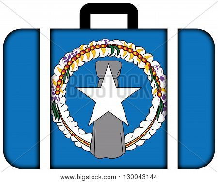 Flag Of Northern Mariana Islands. Suitcase Icon, Travel And Transportation Concept