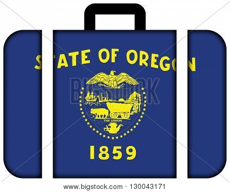 Flag Of Oregon State. Suitcase Icon, Travel And Transportation Concept