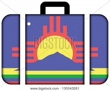 Flag Of Roswell, New Mexico. Suitcase Icon, Travel And Transportation Concept