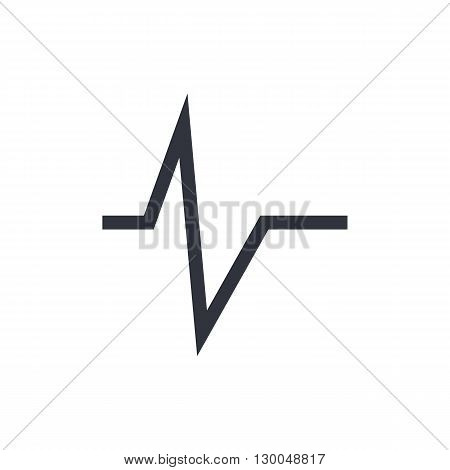 Pulse Icon In Vector Format. Premium Quality Pulse Symbol. Web Graphic Pulse Sign On White Backgroun