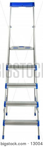 Stepladder front view, isolated on white background