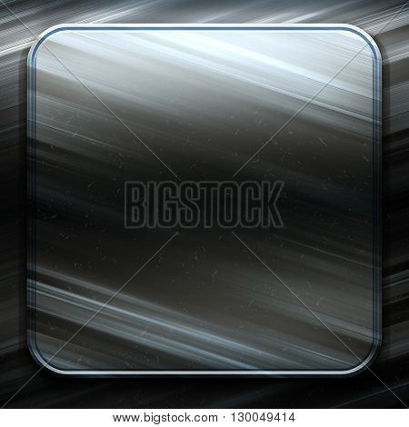 Square metal plate. Silver metal. Silvery background. Polished silver metal texture