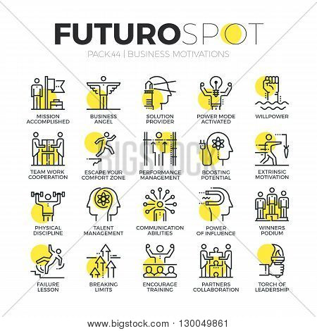 Business Motivations Futuro Spot Icons