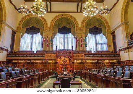 Toronto Legislative Building In Toronto, Ontario, Canada