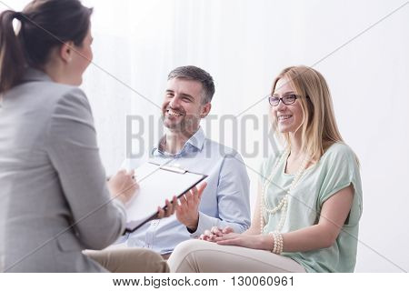 Psychotherapist Filling In Questionnaire On Psychotherapy Session
