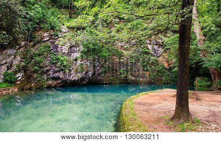 View of the Gorgazzo source Polcenigo Pordenone
