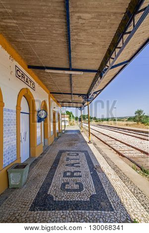 Deactivated train station of Crato. One of the many deactivated stations in the interior of Portugal (Alentejo).