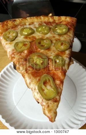 Pepper Pizza Paper Plate