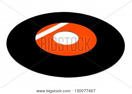 Vinyl record 45 RPM. Without cutting the track