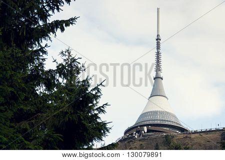 Telecommunication Transmitters Tower On Jested, Liberec, Czech Republic