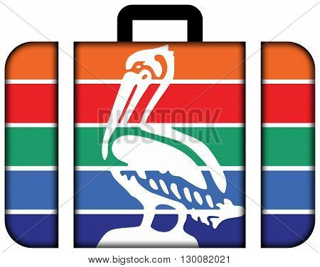 Flag Of St. Petersburg, Florida. Suitcase Icon, Travel And Transportation Concept