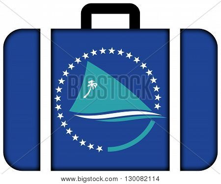 Flag Of The Pacific Community. Suitcase Icon, Travel And Transportation Concept