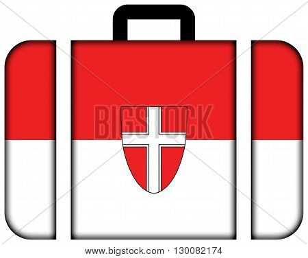 Flag Of Vienna State. Suitcase Icon, Travel And Transportation Concept
