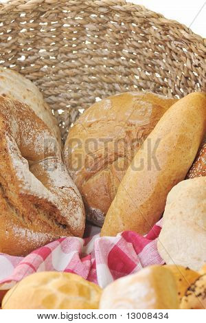 fresh healthy natural bread food group in studio on table poster
