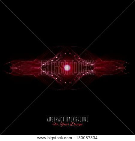 Abstract vector background. Futuristic style card. Abstract alien organism or cell. Black and red color