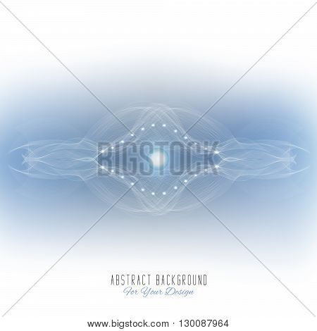 Abstract vector background. Futuristic style card. Abstract alien organism or cell. White and light blue color