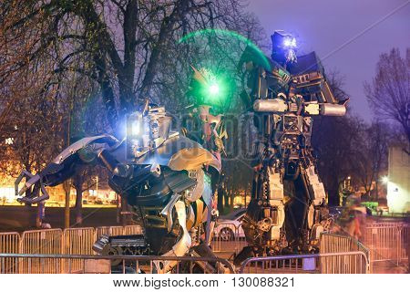 Transformers In Zagreb At Night