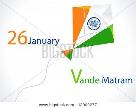abstract kite republic day wallpaper vector illustration poster
