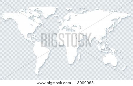 White world map vector photo free trial bigstock white world map with shadow on transparent backgroundctor eps10 gumiabroncs Images
