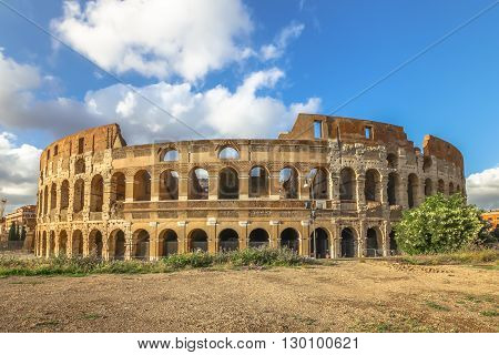 The Colosseo, Colosseum, Flavian Amphitheatre, is the largest amphitheater in the world and one of the symbols of Italy. Symbol of Rome, located in historical center, a Unesco Heritage Site.