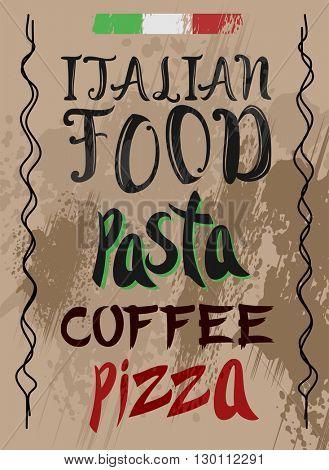 Hand Drawn Pizza and Pasta menu template