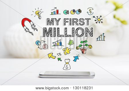 My First Million Concept With Smartphone