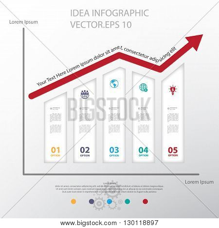 Design graph business graph chart. Vector illustration