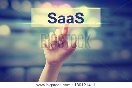 Saas - Software As A Service Concept
