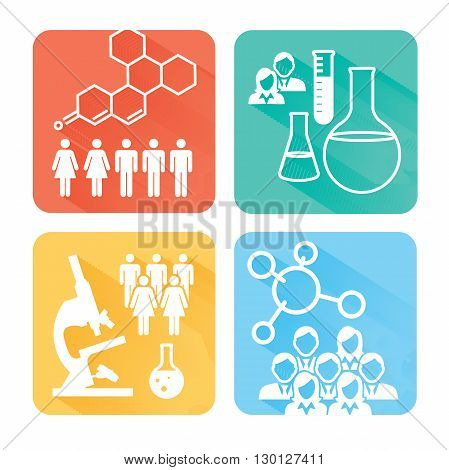 Science And Research Icons Rect 2