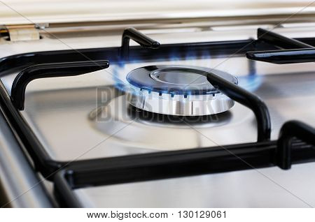 Burner of stainless steel gas cooker selective focus