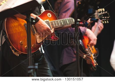 Rock And Roll Music Background, Guitar Players
