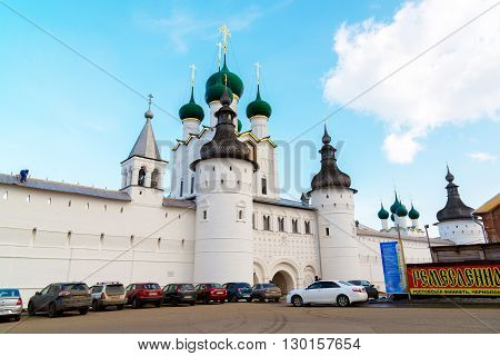 Rostov Veliky, Russia-March 30.2016.  View of the Kremlin