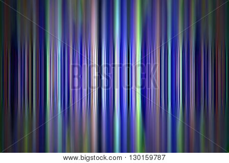 Abstract tilt shift blue and green stripes background