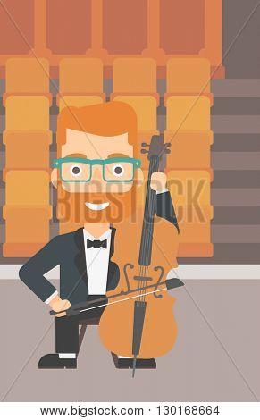 Man playing cello.