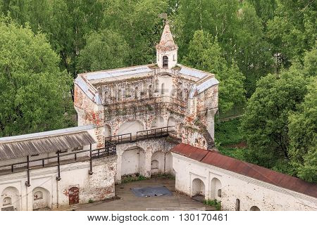 Vologda, Russia - May 26: This is the remains of West Tower of the Vologda Kremlin built in the 16th century May 26, 2013 in Vologda, Russia.