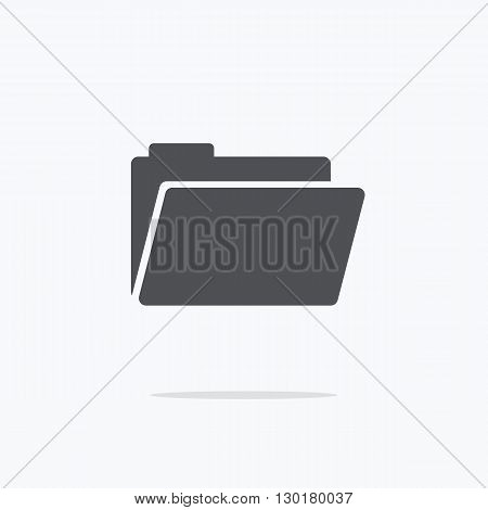 Folder. Icon folders on a light background. Vector illustration.